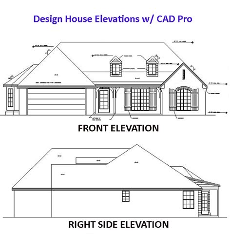 autocad tutorial house design elevation house elevation plan cad pro