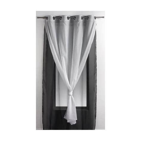 rideau noir et blanc 2825 voilages blanc noir