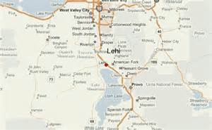 Lehi Utah Map by Lehi Location Guide