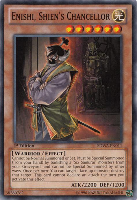 Shadow Of The Six Samurai Shien Spwa En012 1st Edition enishi shien s chancellor yu gi oh fandom powered by