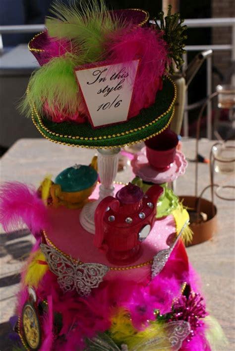 Mad Hatter Hat Centerpiece Alice In Wonderland Party Mad Hatter Centerpieces