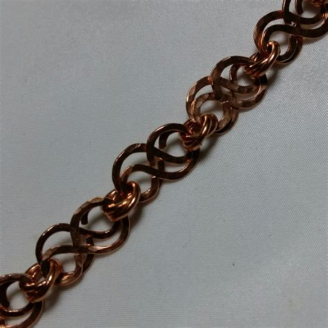 Handmade Wire Bracelets - wire formed hammered copper handmade bracelet 11905