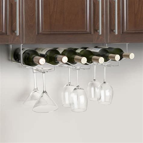 under cabinet wine glass rack under cabinet 6 wine bottle 6 glass rack 3 channel