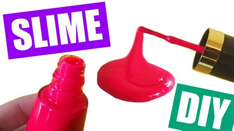 slime nail tutorial how to make slime with nail polish without glue nail