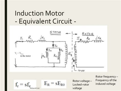 equivalent circuit for inductor electrical power systems induction motor