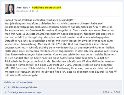 Musterbrief Beschwerde Vodafone Vodafone Kundenbeschwerde Mit 252 Ber 60 000 Likes Und 6 000 Kommentaren Update T3n