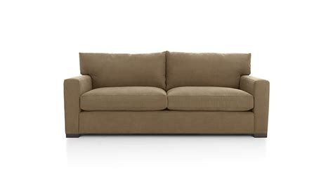 axis ii  seater brown microfiber sofa  sofas reviews crate  barrel
