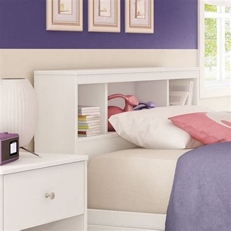 white wood twin headboard south shore litchi wood twin bookcase headboard in white