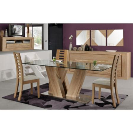 Oak Glass Top Dining Table Sciae Season 51 Glass Top Dining Table In Oak Furniture123