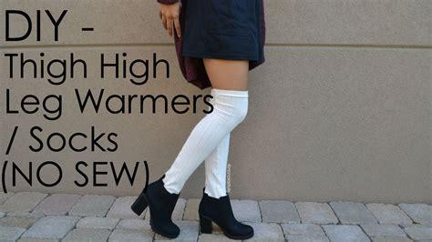 diy thigh high socks from diy thigh high leg warmers socks no sew