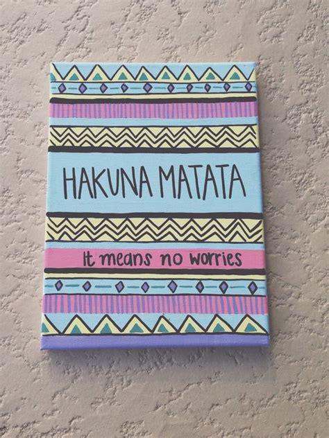 tribal pattern quotes hakuna matata tribal pattern acrylic canvas painting