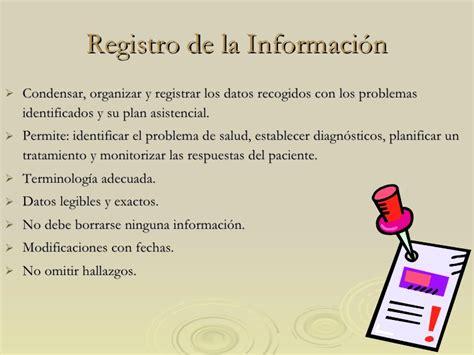 el registro de la registro de la informaci 243 n
