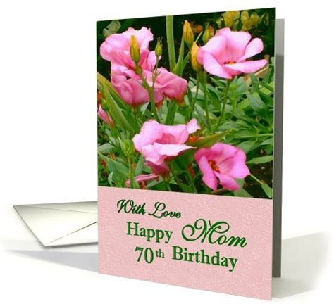 Happy 70th Birthday Card With Love Mom Happy 70th Birthday Card 430360 Images