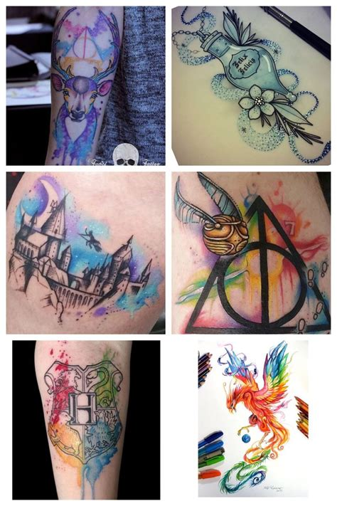 themed tattoo designs harry potter themed sleeve designs harry potter
