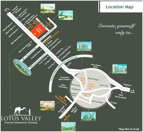 pusa road map lotus valley jaipur rajasthan india premium residential
