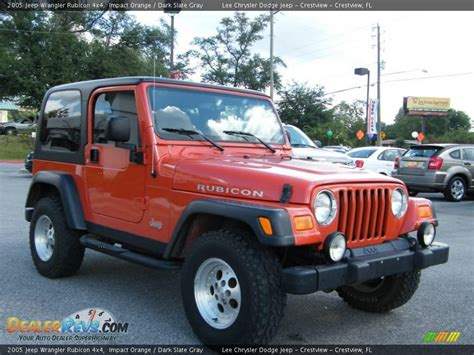 Orange Jeep Rubicon 2005 Jeep Wrangler Rubicon 4x4 Impact Orange Slate