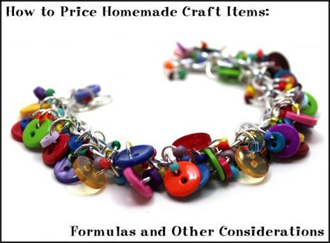 To Sell Handmade Items - how to price craft items formulas and other