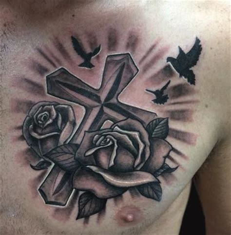 tattoo cross with roses rose and cross tattoo by spencer caligiuri tattoonow
