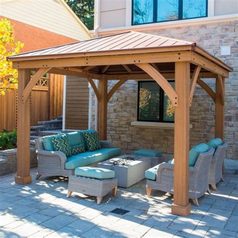 wooden pergola with roof 25 best ideas about backyard gazebo on gazebo