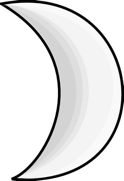crescent moon clipart moon crescent 2 clip at clker vector clip