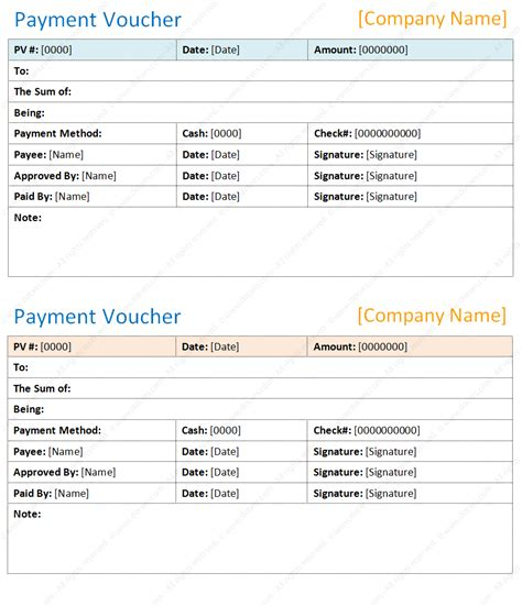 top 5 free payment voucher templates word templates excel templates