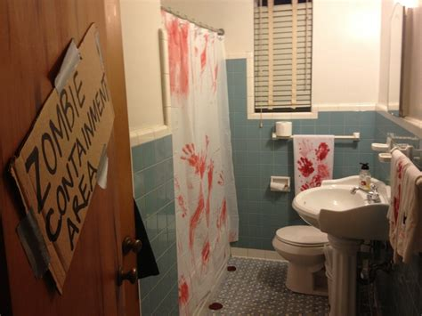 zombie bathroom 16 best images about zombie themed bathroom on pinterest