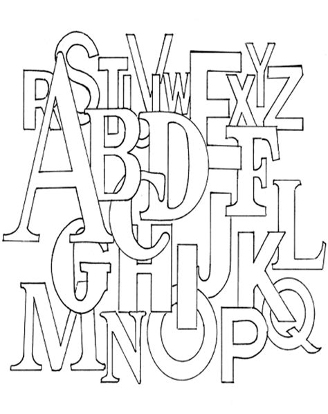 Alphabet Coloring Pages Coloring Kids Coloring Pages With Letters