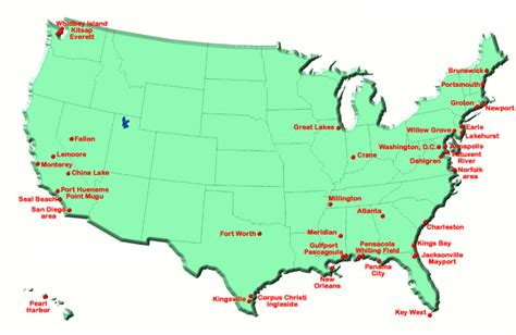 bases in usa map united states navy