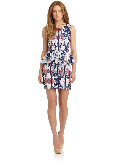 47429 Dress Hodie Avenue saks fifth avenue floralprint peplum dress lyst