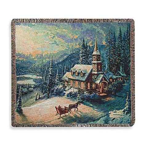 buy thomas kinkade holiday sunday evening sleigh ride