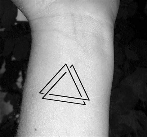 triple triangle tattoo triangle triangle three triangles