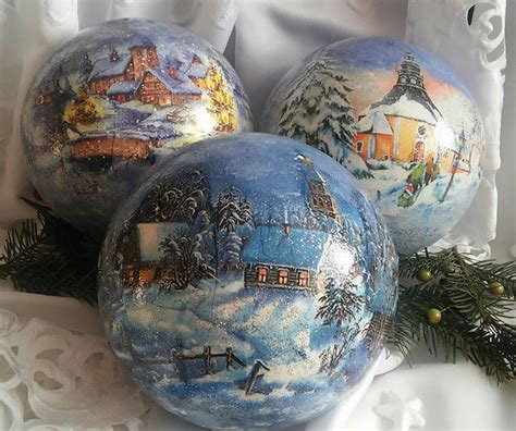 Decoupage Glass Ornaments - pin by jukaka on decoupage