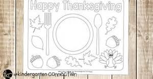 fun printable thanksgiving placemats