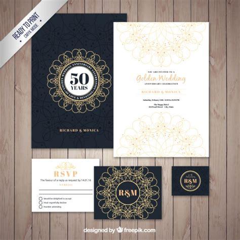 Wedding Anniversary Brochure by Golden Wedding Brochure Pack Vector Free