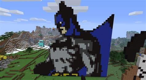 creative pixel art ideas batman collection minecraft