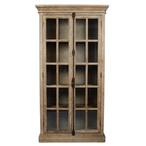 antique glass door display cabinet