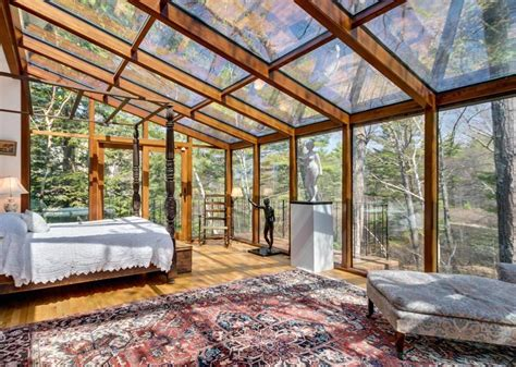 sherborn home features walls and ceilings of glass the