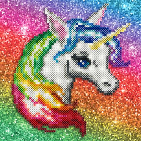 unicorn perler pattern rainbow unicorn perler