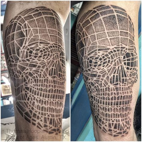dotwork skull best tattoo design ideas