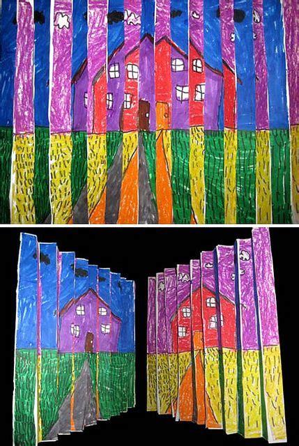 pattern art for grade 3 2nd grade op art landscape op art pastels and landscaping