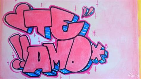 imagenes de te extraño en graffiti como hacer graffiti en papel te amo fer art youtube