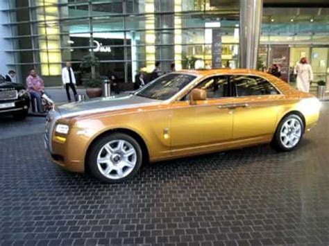 golden rolls royce golden rolls royce ghost with real gold spirit of ecstasy