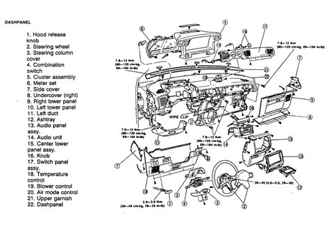 service manual 1991 mazda navajo instrument cluster removal how to remove instument cluster