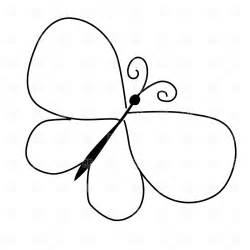 Butterflies Images Outline by Butterfly Outline Clip