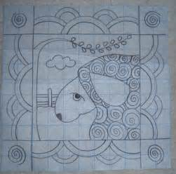 Rug Punch Patterns Under The Willow Primitive Sheep Pillow Rug Hooking Pattern