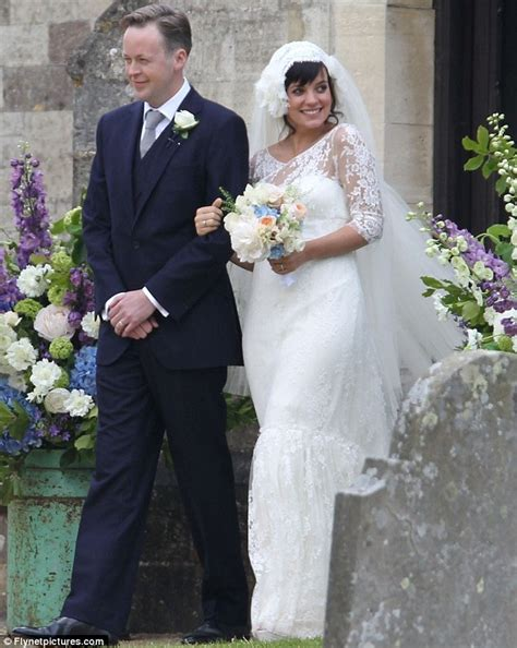 lily allen wedding lily allen wore chanel dress for wedding reception daily