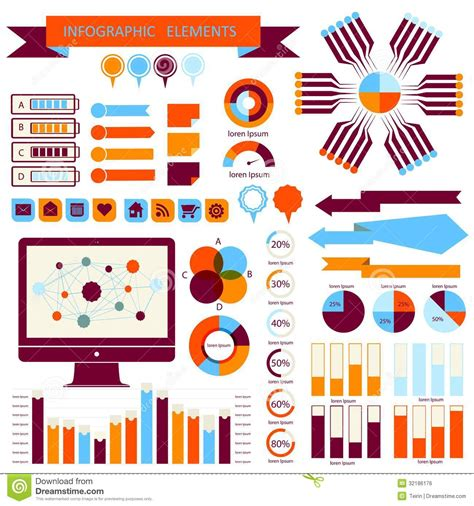 graphic design elements download vector vector info graphic elements set 02 stock vector