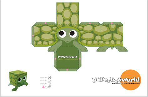 Papercraft Easy - box turtle po archives