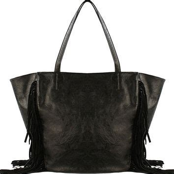 Tote Bag By Toko 354 shop black fringe tote on wanelo