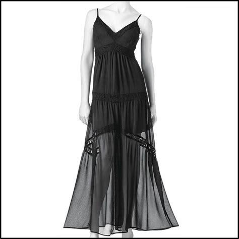 Dahlia Maxy Lacoste haight kohls black chiffon lace maxi dress